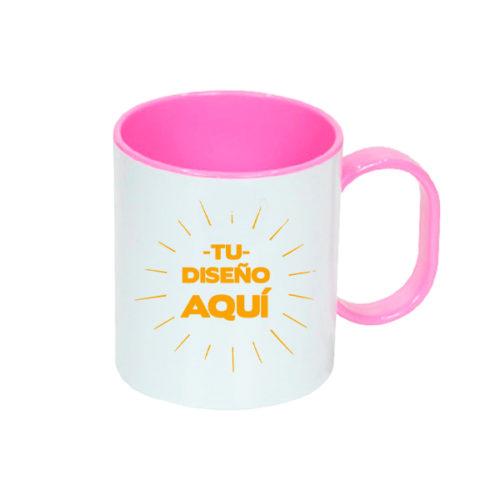 taza-plastico-rosa-con-diseño